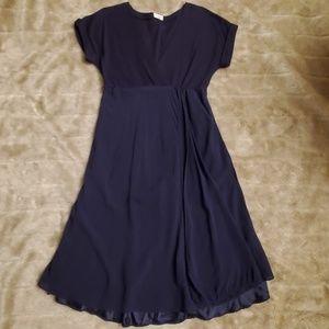 Brunello Cucinelli mixed texture dress w/ pockets